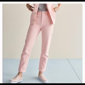Madewell High Rise Light Pink Jeans
